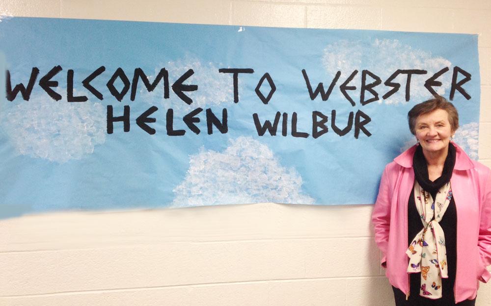 Helen Wilbur at Webster!